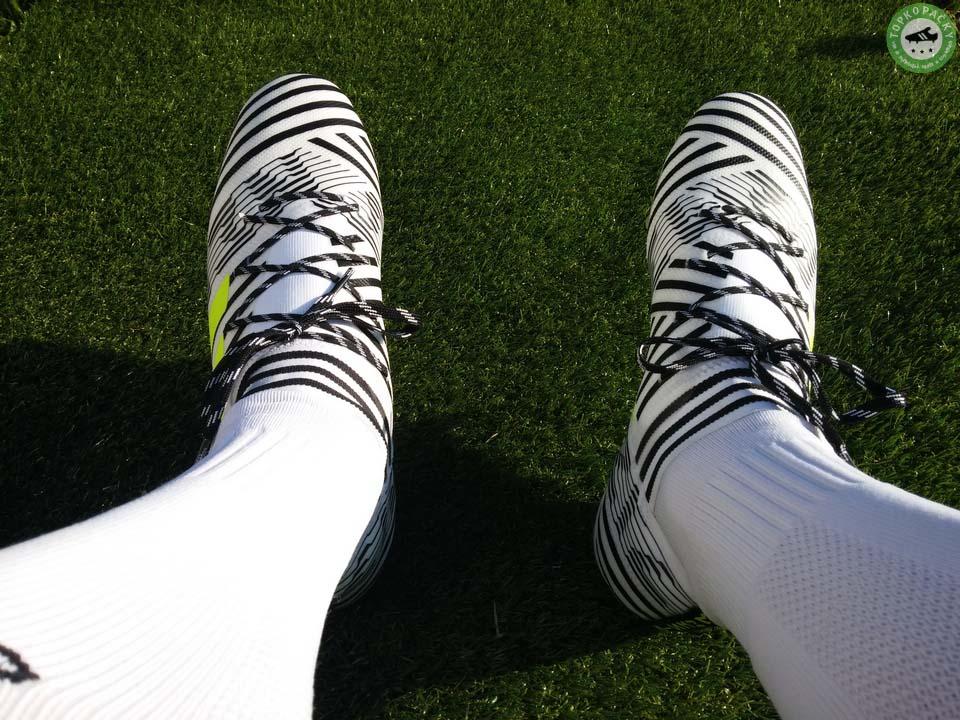 kopačky adidas nemeziz 17.2 na noze