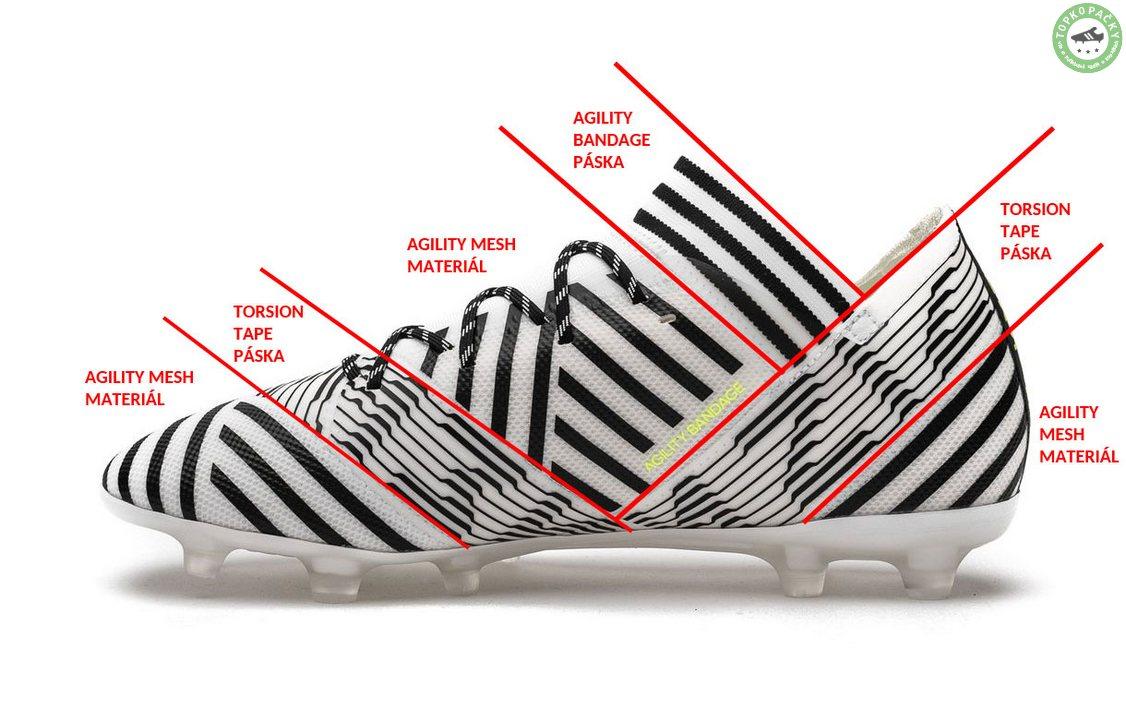 Adidas Nemeziz 17.2 - použité materiály