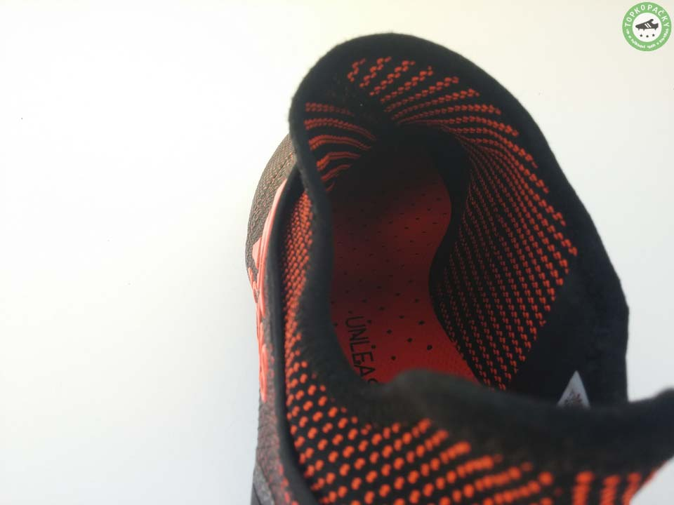 Kopačky Adidas X 17+ Purespeed vnitřek