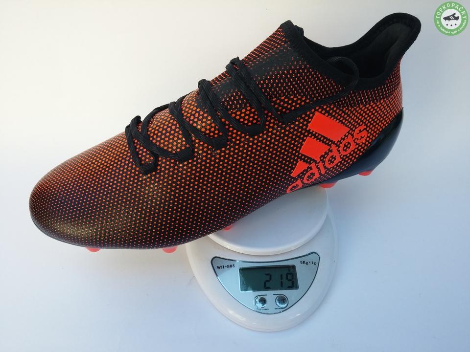 kopačky Adidas X 17.1 - váha