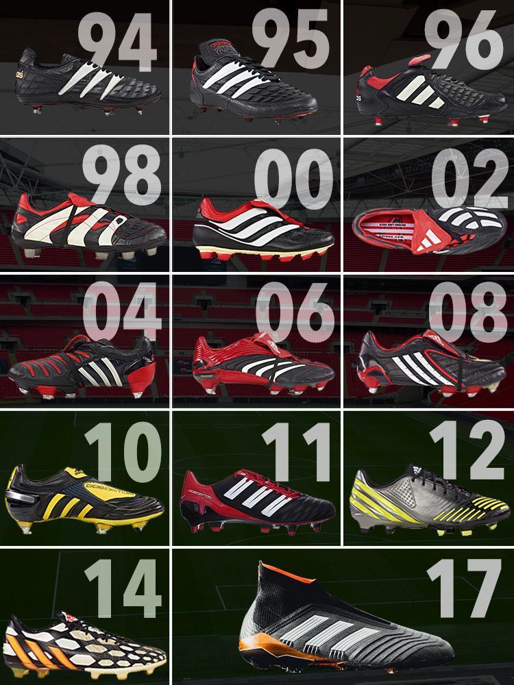 historie kopaček Adidas Predator