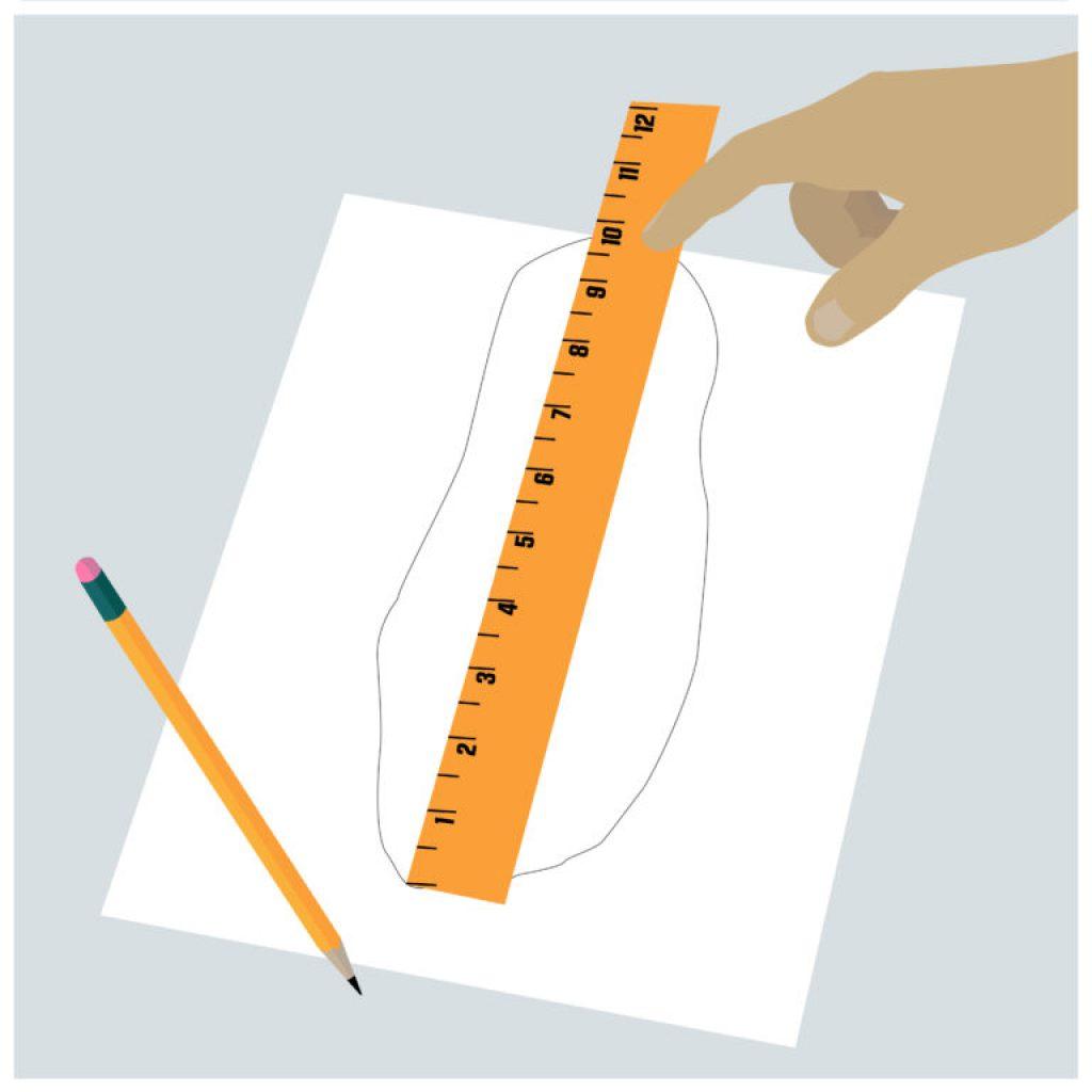 jak vybrat správnou velikost kopaček - měříme chodidlo