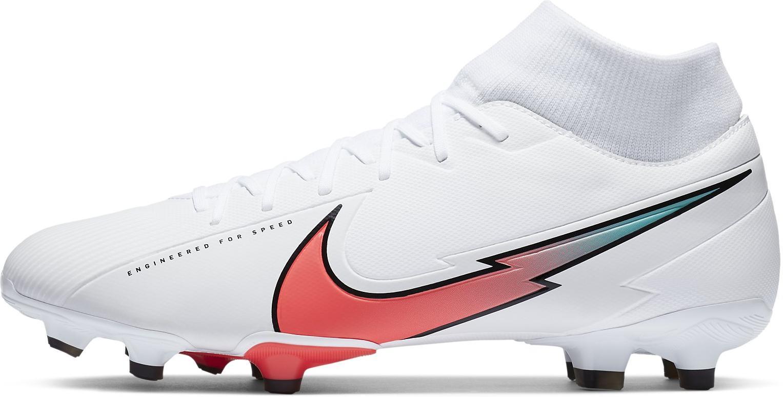 Kopačky Nike SUPERFLY 7 ACADEMY FG/MG bílá