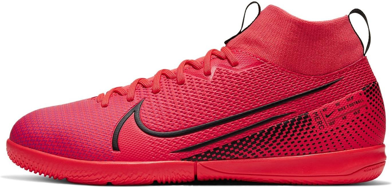 Sálovky Nike JR SUPERFLY 7 ACADEMY IC červená
