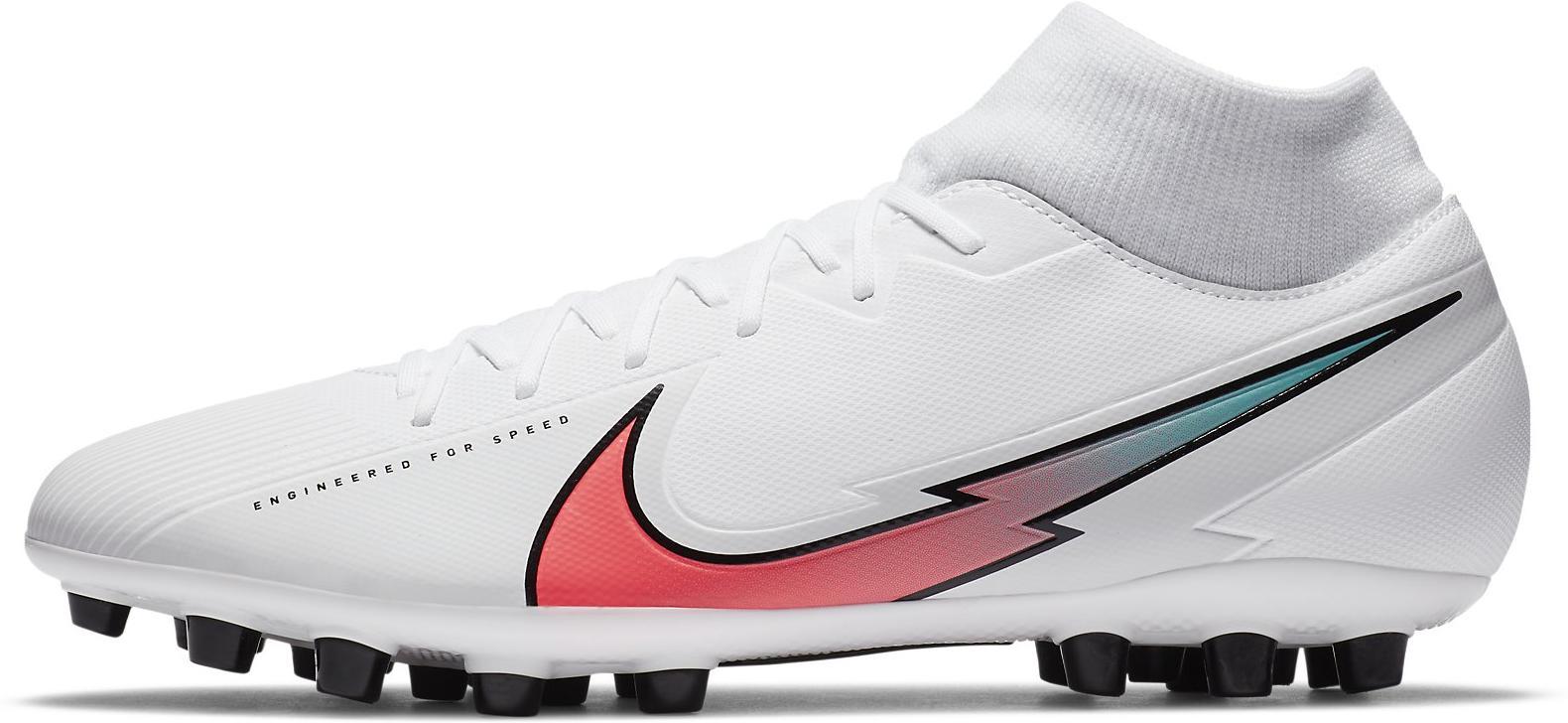 Kopačky Nike SUPERFLY 7 ACADEMY AG bílá