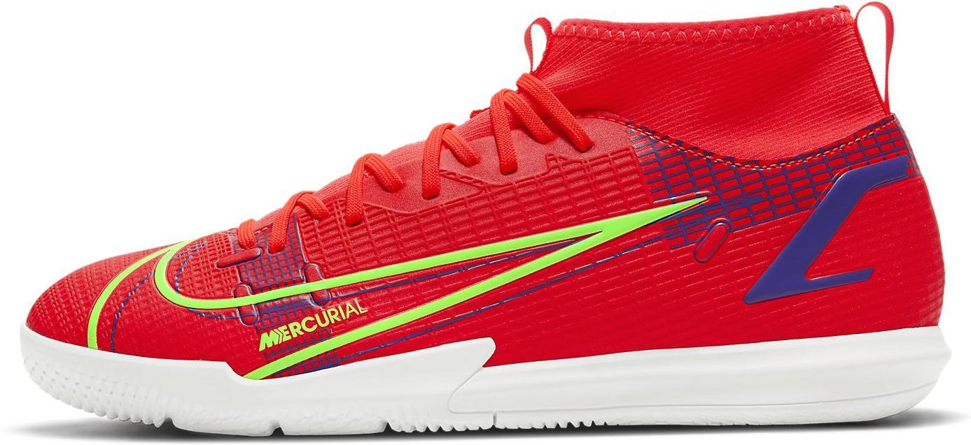 Sálovky Nike JR SUPERFLY 8 ACADEMY IC červená