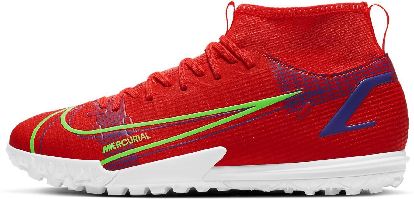 Kopačky Nike JR SUPERFLY 8 ACADEMY TF červená