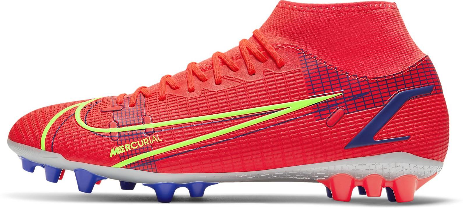 Kopačky Nike SUPERFLY 8 ACADEMY AG červená