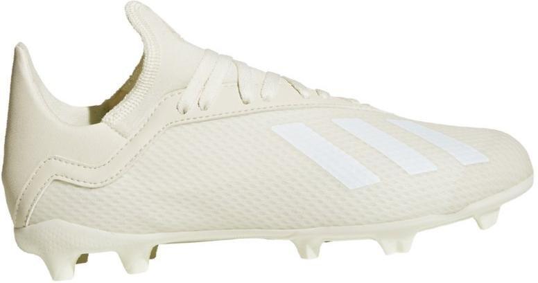 Kopačky adidas  X 18.3 FG J bílá