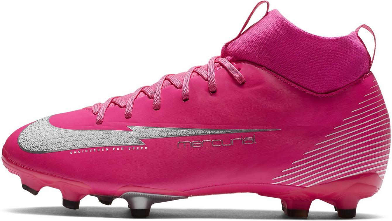 Kopačky Nike JR SUPERFLY 7 ACADEMY MBAPPE ROSA FG/MG růžová