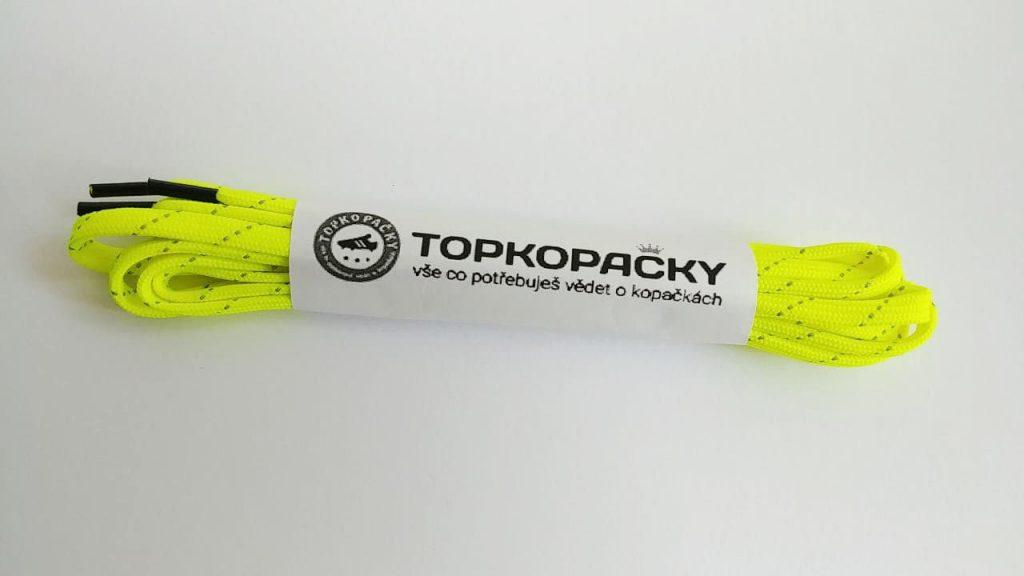 tkaničky do kopaček žluté s reflexní páskou