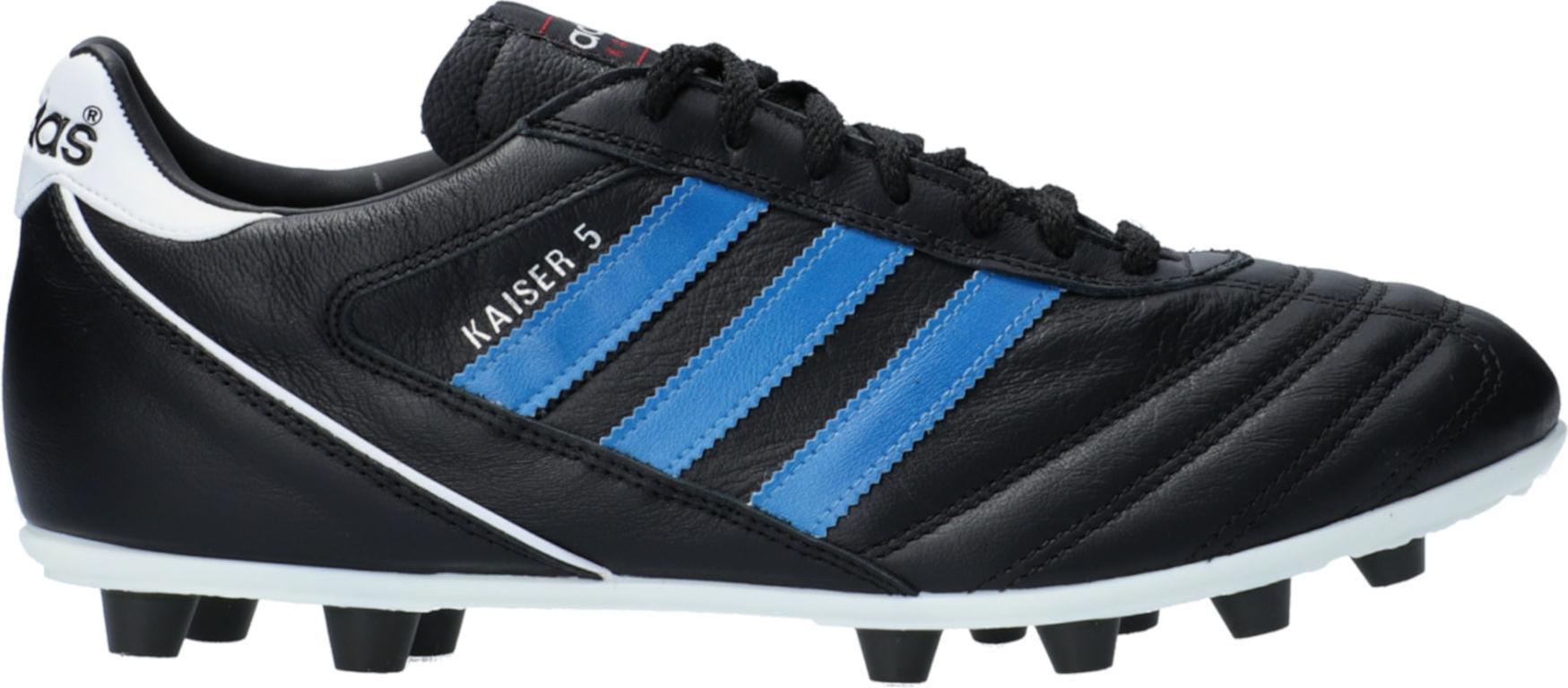 Kopačky adidas  Kaiser 5 Liga FG Blue Stripes Schwarz černá