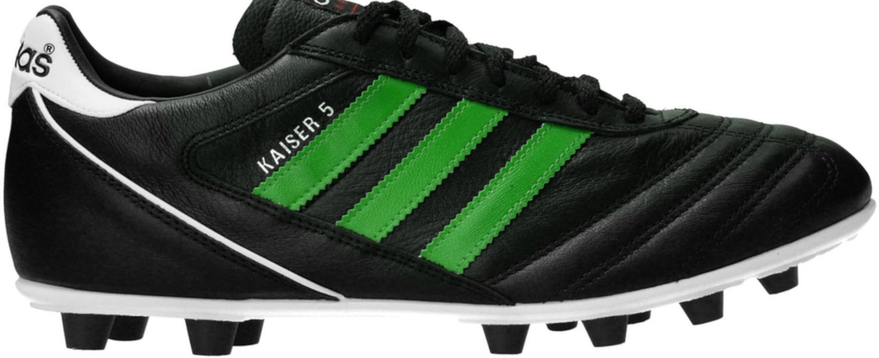 Kopačky adidas  Kaiser 5 Liga FG Green Stripes Schwarz černá