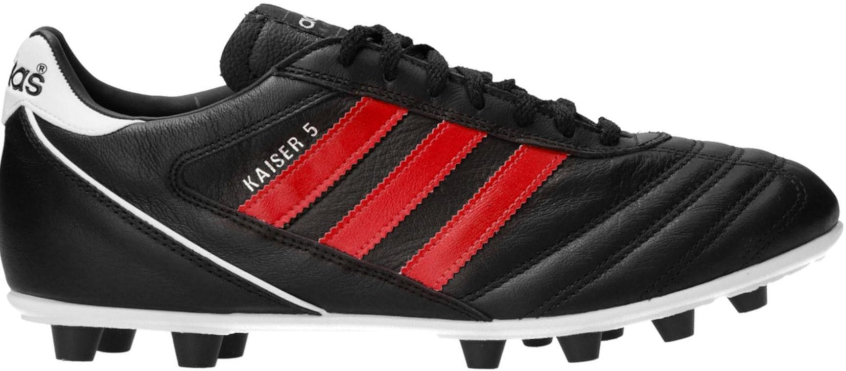 Kopačky adidas  Kaiser 5 Liga FG Red Stripes Schwarz černá